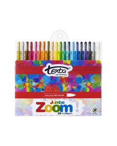 TEXTA JUMBO ZOOM CRAYONS ASSORTED PACK 20