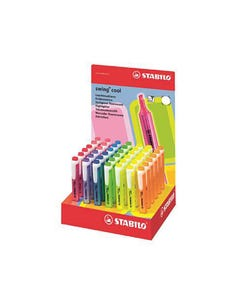 STABILO SWING COOL HIGHLIGHTER CHISEL ASSORTED DISPLAY 42