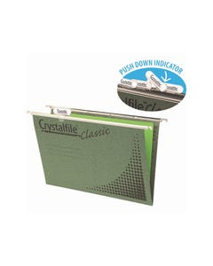 CRYSTALFILE CLASSIC SUSPENSION FILES A4 GREEN PACK 20