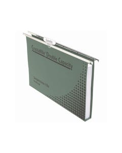 CRYSTALFILE DOUBLE CAPACITY SUSPENSION FILES 30MM FOOLSCAP GREEN PACK 10
