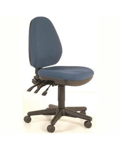 BURO VERVE HIGH BACK CHAIR WITH ARMS JETT DARK BLUE