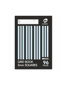 OLYMPIC G2596 GRID BOOK 5MM SQUARES 96 PAGE 55GSM 225 X 175MM