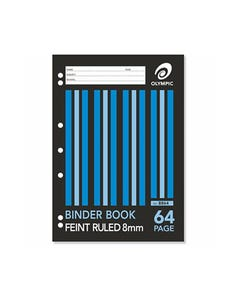 OLYMPIC B864 BINDER BOOK 8MM RULED 64 PAGE 55GSM A4