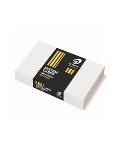 OLYMPIC PLAIN SYSTEM CARDS 100 X 150MM WHITE PACK 100