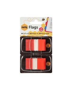 MARBIG FLAGS POP-UP 50 FLAGS 25 X 44MM RED PACK 2