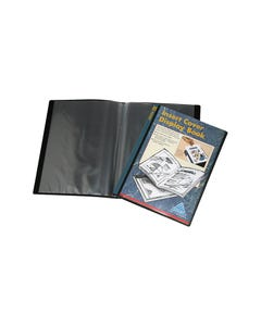 COLBY DISPLAY BOOK NON-REFILLABLE INSERT COVER 10 POCKET A4 BLACK