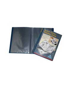 COLBY DISPLAY BOOK NON-REFILLABLE INSERT COVER 10 POCKET A4 NAVY