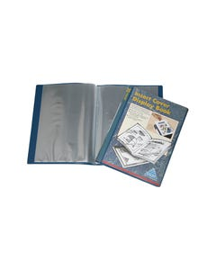 COLBY DISPLAY BOOK NON-REFILLABLE INSERT COVER 20 POCKET A4 NAVY