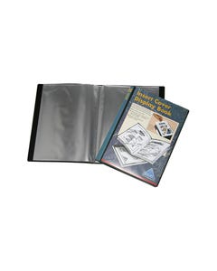 COLBY DISPLAY BOOK NON-REFILLABLE INSERT COVER 30 POCKET A4 BLACK