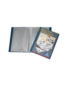 COLBY DISPLAY BOOK NON-REFILLABLE INSERT COVER 30 POCKET A4 NAVY