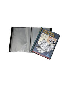 COLBY DISPLAY BOOK NON-REFILLABLE INSERT COVER 40 POCKET A4 BLACK