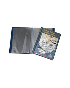 COLBY DISPLAY BOOK NON-REFILLABLE INSERT COVER 40 POCKET A4 NAVY
