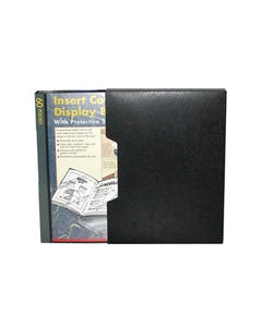 COLBY DISPLAY BOOK NON-REFILLABLE INSERT COVER SLIPCASE 60 POCKET A4 BLACK