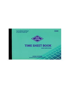 ZIONS 30AB TIME SHEET BOOK RETAIL SHOP EMPLOYEES