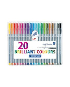 STAEDTLER 323 JOHANNA BASFORD TRIPLUS FINELINE PEN ASSORTED BOX 26