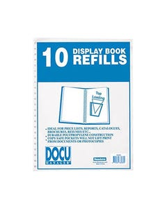 BEAUTONE DISPLAY BOOK REFILL A4 PACK 10