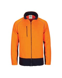 DNC Hi-Vis 2 Tone Full Zip Fleecy Sweat Shirt 3725