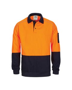 DNC Hi-Vis Rugby Top Windcheater with Two Side Zipped Pockets 3727