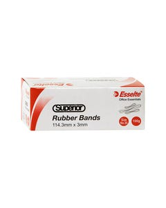 ESSELTE SUPERIOR RUBBER BANDS SIZE 35 100G BOX