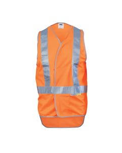 DNC Day/Night Cross Back Safety Vest with Tail 3802