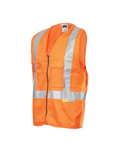 DNC Day/Night Cross Back Cotton Safety Vests with CSR R/Tape 3810