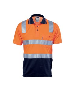 DNC Short Sleeve Hi-Vis Two Tone Polo Shirt with CSR R/ Tape 3817