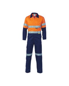 DNC Hi-Vis Two Tone Cotton Coverall with 3M R/Tape 3855