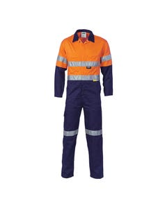 DNC Hi-Vis Cool-Breeze Lightweight Cotton Coverall with 3M R/Tape 3955