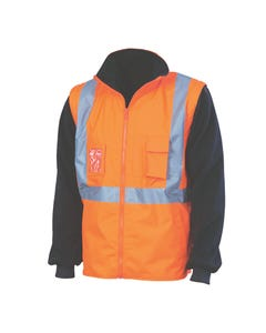 """DNC Hi-Vis 4-in-1 Zip off Sleeve Reversible Vest, """"X"""" Back with additional tape on Tail 3990"""