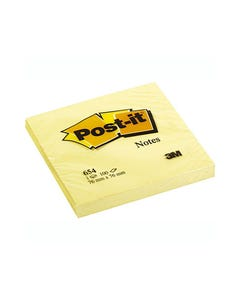 POST-IT 654 ORIGINAL NOTES 76 X 76MM CANARY YELLOW