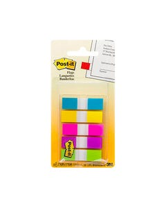 POST-IT 683-5CB MINI FLAGS BRIGHT COLOURS PORTABLE PACK 100