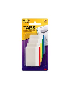POST-IT 686F-1 DURABLE FLAT FILING TABS ASSORTED PACK 4