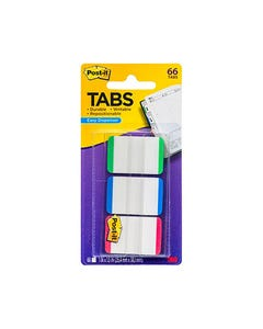 POST-IT 686L-GBR DURABLE TABS 3 COLOURS PACK 66