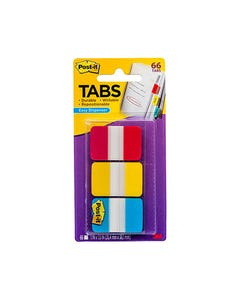POST-IT 686-RYB DURABLE TABS 3 COLOURS RED BLUE YELLOW PACK 66