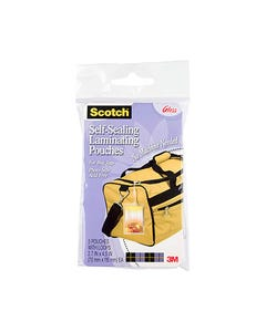 SCOTCH LS853-5G SELF LAMINATING BAG TAGS WITH LOOP PACK 5