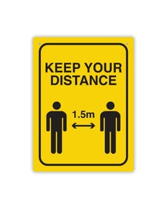 Social Distance Wall Sign - 'Keep Your Distance'