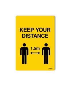 Window Decals - 'Keep Your Distance' Pack of 2