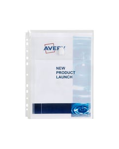 AVERY 47902 POCKET EXPANDABLE A4 50 SHEETS CLEAR PACK 5