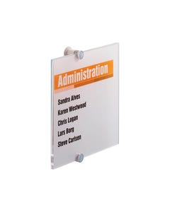 DURABLE CRYSTAL SIGN 210 X 210MM CLEAR