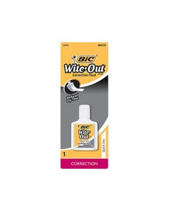 BIC WITE-OUT QUICK DRY CORRECTION FLUID 20ML