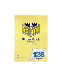 SPIRAX 127 BINDER BOOK 8MM RULED A4 128 PAGE