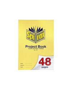 SPIRAX 141 PROJECT BOOK 14MM DOTTED THIRDS A4 48 PAGE