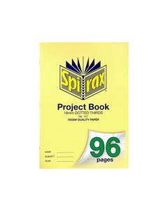 SPIRAX 147 PROJECT BOOK 18MM DOTTED THIRDS A4 96 PAGE
