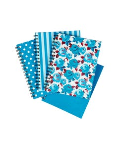 SPIRAX 511 NOTEBOOK 7MM RULED HARD COVER SPIRAL BOUND 200 PAGE 225 X 175MM DEEP BLUE ASSORTED