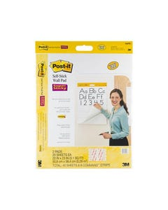 POST-IT 566 PRIMARY RULED SELF STICK WALL PAD 508 X 584MM