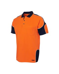 JB's Wear Hi-Vis Short Sleeve Arm Panel Polo 6AP4S