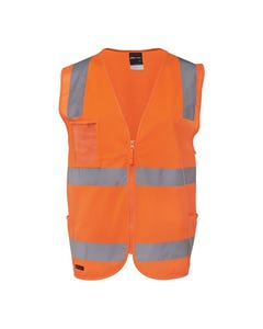 JB's Wear Hi-Vis D+N Zip Safety Vest
