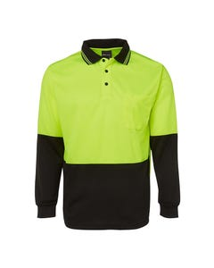 JB's Wear Hi-Vis Long Sleeve Trade Polo 6HVPL