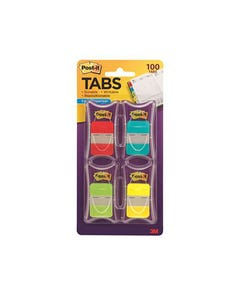 POST-IT 686-RALY DURABLE TABS 25MM RED/AQUA/LIME/YELLOW PACK 100