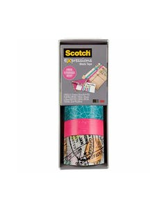SCOTCH C317-3PK-TRV EXPRESSIONS WASHI TAPE ASSORTED PACK 3